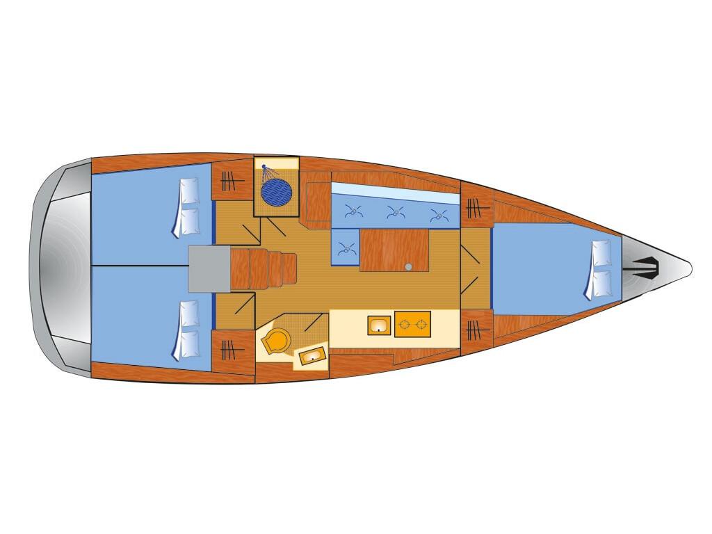 Oceanis 38.1, Maja